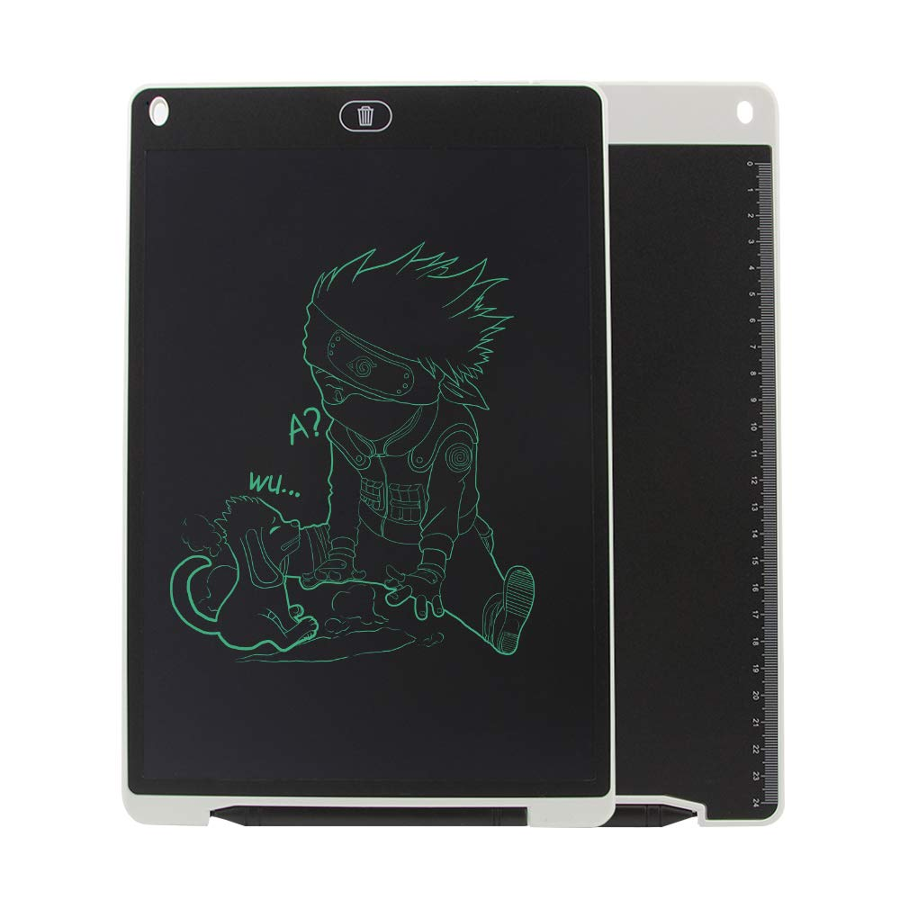 KINGWEI New 12 Inch LCD Writing Tablet +Neoprene Sleeve Case (White) by KINGWEI (Image #3)
