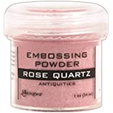 Ranger Embossing Powder, 1-Ounce Jar, Rose Quartz
