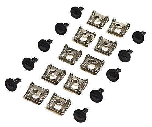 1/4 Turn Quick Release Engine Undertray Cover Metal Screws Bolts & Clips 10 Sets Audi VW Volkswagen BMW - Quick Release Screws
