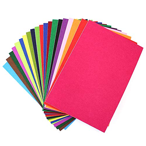 (M-Aimee 20 Pieces 20 Colors Felt Fabric Sheet Assorted Color Felt Pack DIY Craft Squares Nonwoven,8.3 by 11.8 Inch (A4 Size))