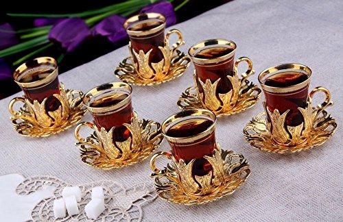 gold espresso set - 9