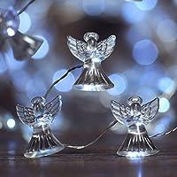 IMPRESS LIFE Luces de luces LED navideñas, Angel Cherubim 10 pies Cable de cobre 40 LED con control remoto para Navidad, Acción de gracias, Cumpleaños, Boda, Cubierto al aire libre, Fiestas interiores y decoraciones para el hogar Ideas