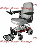 "Shoprider - Smartie - Rear Wheel Drive Travel Power Chair - 18""W x 17.5""D - Red - PHILLIPS POWER PACKAGE TM - TO $500 VALUE"