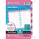 Day-Timer Accessories Pack, January 2019 - December 2019, Loose Leaf, Desk Size, Pink Ribbon (14235-1901)
