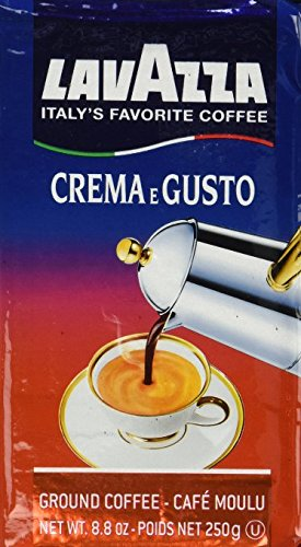 8.8 Ounce Brick (Lavazza Crema e Gusto Ground Coffee, Italian , 8.8-Ounce Bricks ( (pack of 8) Lavazza-lf)