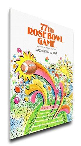 NCAA Washington Huskies 1991 Rose Bowl Canvas Program Cover, Regular (Washington Bowl Rose Huskies)