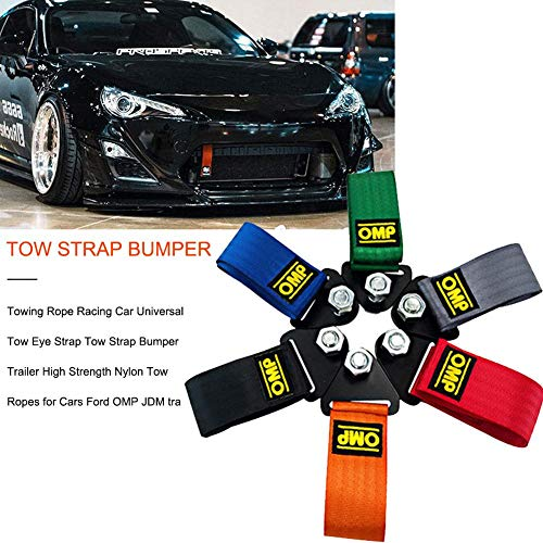 Nifera Racing Modified Tow Rope Trailer Traction Belt Decorative Belt Tow Strap Towing Rope Racing Car Universal Tow Eye Strap Tow Strap Bumper Trailer High Strength Nylon Tow Ropes