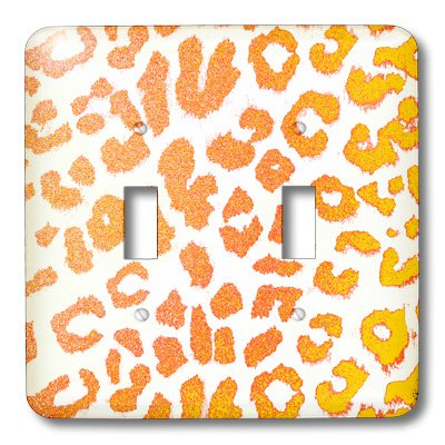 3dRose lsp_30856_2 Orange and Yellow Leopard Print Animal Prints Double Toggle Switch