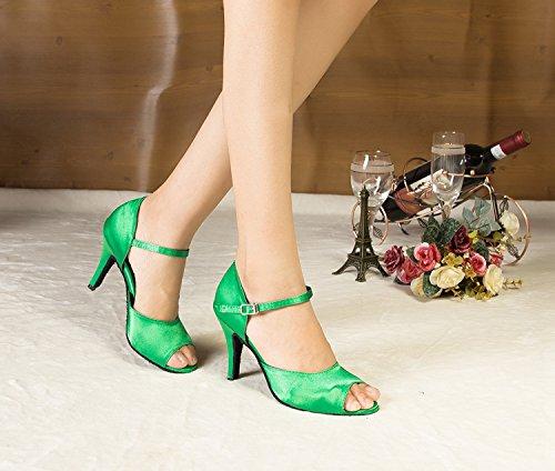 Miyoopark , Damen Tanzschuhe , grün - Green-8.5cm heel - Größe: 35