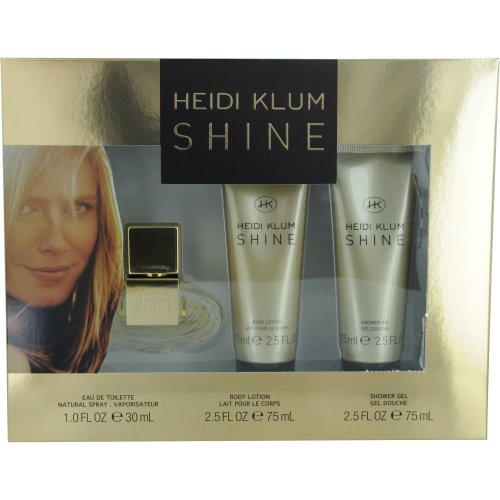 Heidi Klum Shine Set (Eau de Toilette Spray and Body Lotion and Shower -