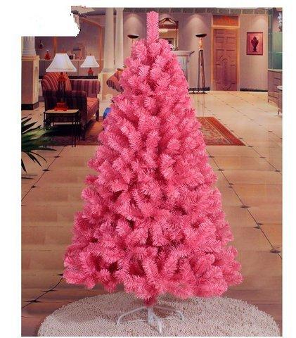 GOWE Decoration Ornaments Tree Christmas Tree Artificial Xmas Tree Christmas PVC Pink Thick Leaves Ornaments 1.5M 0