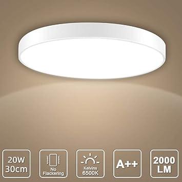 LED Deckenleuchte, LED Deckenlampe, Kaltweiß Warmweiß Rund Modern Led  Deckenleuchten Schlafzimmer Küche Wohnzimmer Lampe für Balkon Flur Küche ...