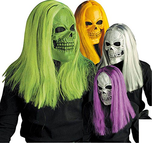 Générique MAHAL538–Mask Skull Wig Neon Matching–One Size -
