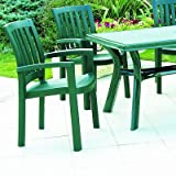 Compamia The Sunshine Resin Dining Armchair (Set of 4), Green For Sale