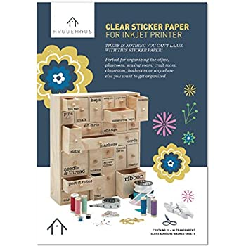 Amazon Com Avery Printable Sticker Paper Glossy Clear