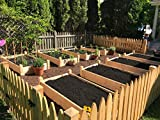 Healthy Roots Two Raised Bed Gardens Made of Pine 3x3x2 Inch Thick Pine Boards Pine