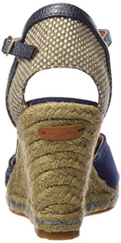 Wrangler Damen Brava Canvas Geschlossene Sandalen mit Keilabsatz Blau (16  Navy)