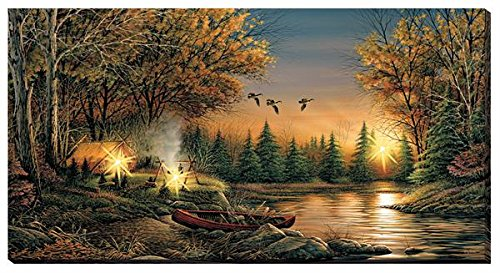 Evening Solitude Lighted Wrapped Canvas by Terry Redlin