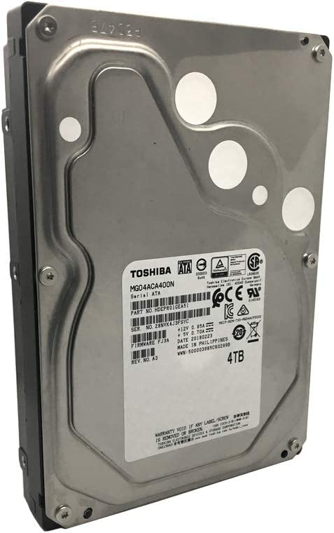 "Toshiba 4TB 3.5"" SATA 6Gb/s 7200 RPM 128M Enterprise Hard Drive - MG04ACA400N"