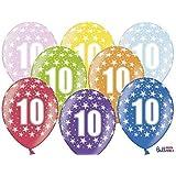 FABSUD - Lote de 20 Globos cumpleaños 10 años: Amazon.es: Hogar