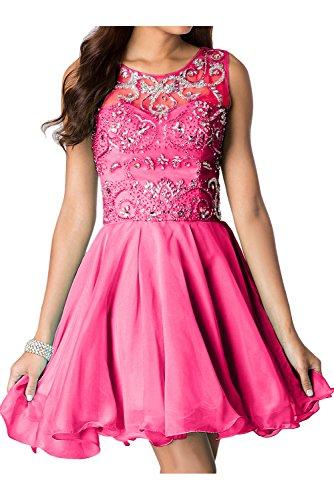 trapecio para 38 rosa Topkleider Vestido mujer 0aqfwFWZx