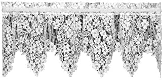 product image for Heritage Lace Dogwood 55-Inch by 18-Inch Drop White Valance