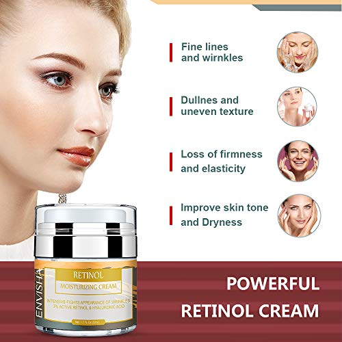 51h%2B5acZBhL - Wumal Retinol Moisturizer Cream for Face and Eye Area - Anti Aging Infused with 3% Active Retinol, Hyaluronic Acid & Vitamin E - Reduce Wrinkles, Fine Lines, Fades Sun Spot