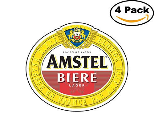 amstel-4-beer-logo-alcohol-4-vinyl-stickers-decal-bumper-window-bar-wall-4x4