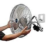 Lasko 2265QM 20-Inch Max Performance High Velocity Floor/Wall mount fan, Silver