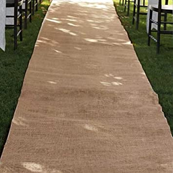 burlap wedding aisle runner 36 inch x 100 ft rustic natural