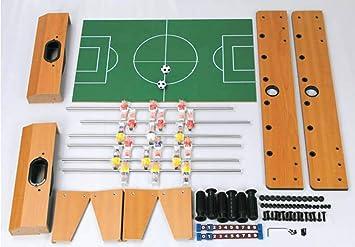 ZHJIUXING ZQ Portátil Futbolín Juego de Mesa de Madera Baby Foot ...
