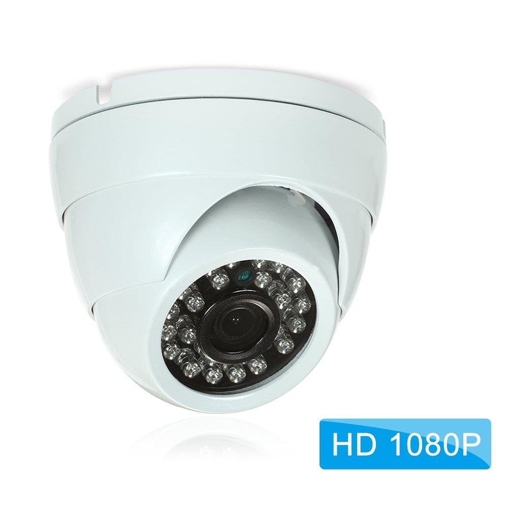 OWSOO Cá mara IP de Vigilancia 1080P HD 2.0MP Cá mara en Domo CAM 1/2.7' CMOS IR Lentes 3.6mm H.265/H.264 Vista Nocturna IR-Cut Network Onvif P2P Android iPhone Vista Remota Detecció n de Movimiento