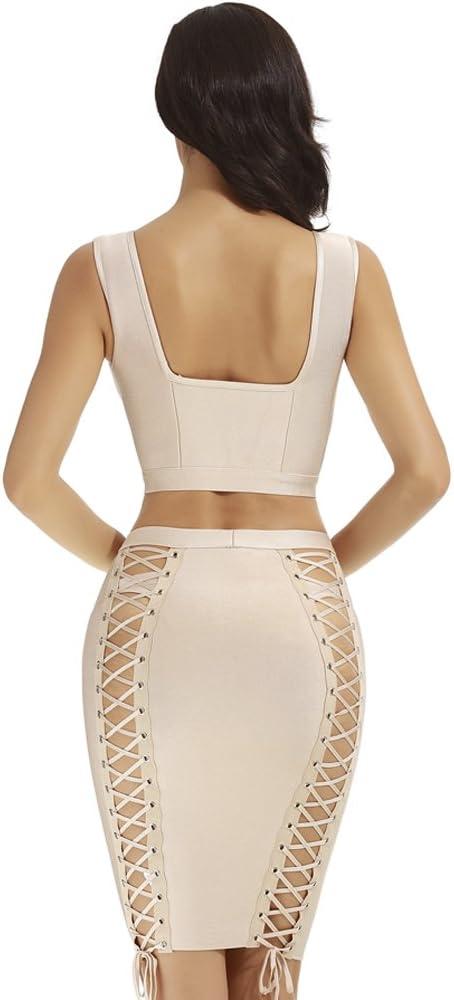 f7049ddc2e4 Amazon.com: Whoinshop Women's Sleeveless Skirt Set 2 Piece Cocktail ...