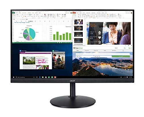 Acer CB242Y bir 23.8″ Full HD (1920 x 1080) IPS Zero Frame Home Office Monitor with AMD Radeon Free Sync – 1ms VRB, 75Hz Refresh, Height Adjustable Stand with Tilt & Pivot (HDMI & VGA ports),Black