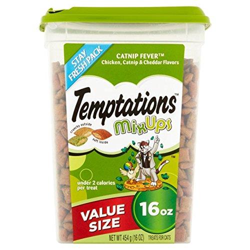 TEMPTATIONS MixUps Cat Treats (Chicken, Catnip, Cheddar, 16 oz. -Pack of 3) by Temptations