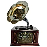 executive usb turntable - Back to The 50's Executive Antique Trumpet Horn Turntable/Phonograph with encode function