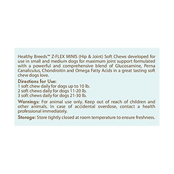 Healthy Breeds Z-Flex Minis Hip & Joint Support Soft Chews - Over 100 Breeds - Small Breed Formula - 60 Count 2