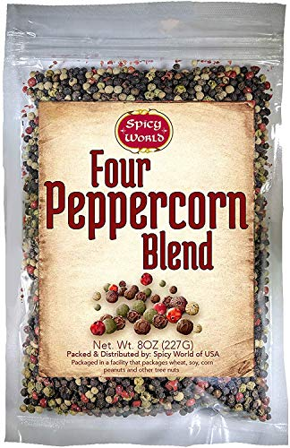 (Spicy World Four Peppercorn Blend 8-Ounce (Rainbow Pepper))