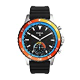 Fossil Hybrid Smartwatch – Q Crewmaster Black Silicone