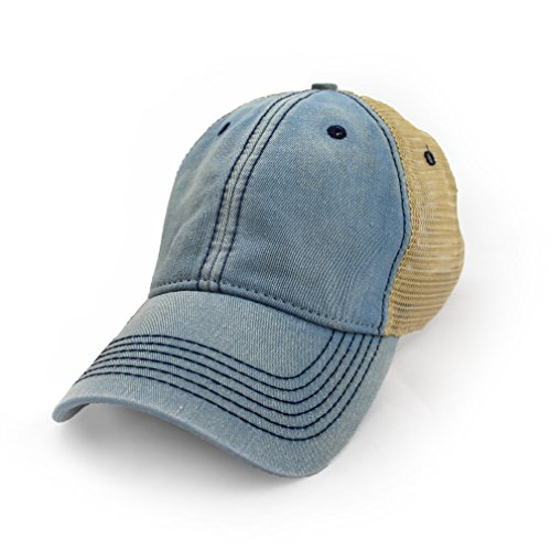 Blank Trucker Hat, Vintage Salt-Wash, Americana Blue