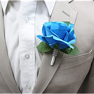 Large size Boutonniere-Nice hand-crafted medium open keepsake artificial flower-Pearl headed Pin included 54