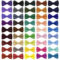 Bow Tie House Men's Pre-Tied Bow Tie in Classic Gabardine in many solid colors