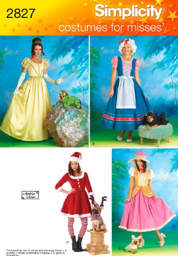 Simplicity Sewing Pattern 2827 Misses and Dog Costumes, HH (6-8-10-12) ()
