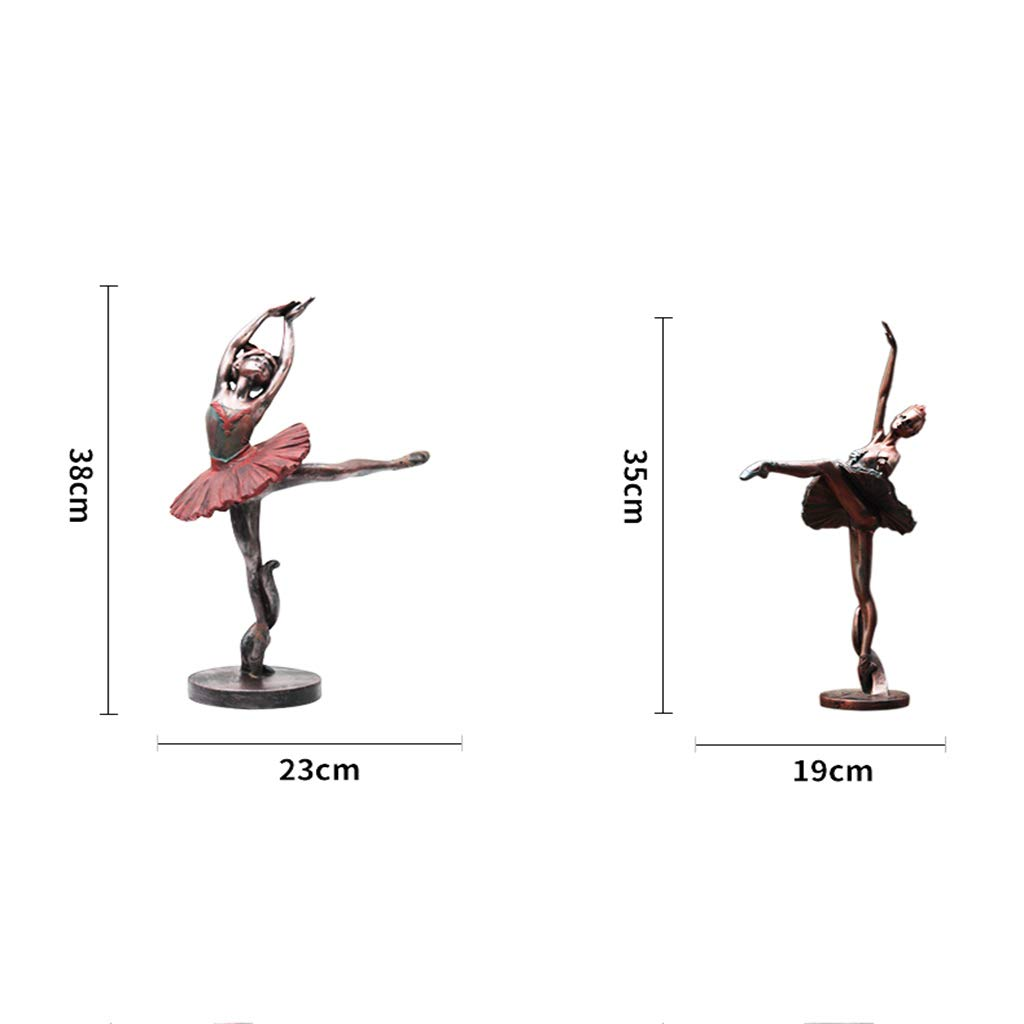 Ballerina Sculpture, Decoration Home Living Room Retro Character Resin European Crafts Home (Color : One Set (6)) by None (Image #2)