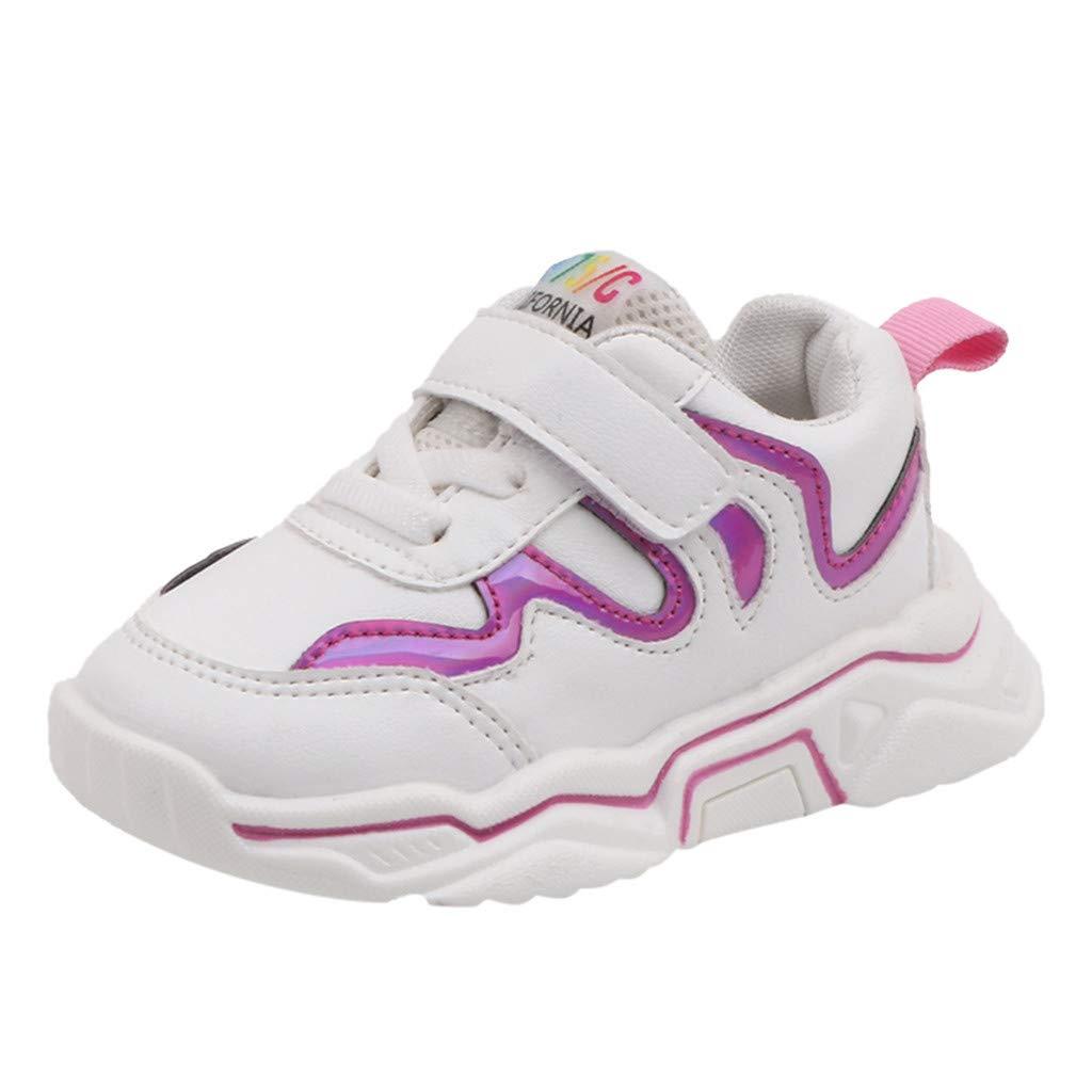 Alwayswin Kinder Jungen M/ädchen Sport Turnschuhe Atmungsaktive Laufschuhe Bequeme Sneakers mit Weichem Boden Klettverschluss Sportschuhe Mode Outdoor Kinderschuhe