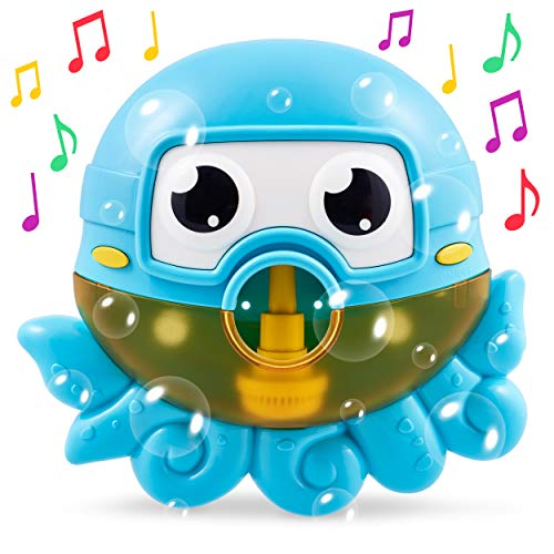 CHUCHIK Octopus Bath Toy. Bubble Bath Maker for The Bathtub. Blows Bubbles and Plays 24 Children's Songs - Baby, Toddler Kids Bath Toys Makes Great Gifts for Toddlers - Sing-Along Bath Bubble Machine