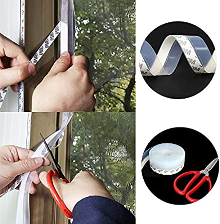 E-PRONSE Door Seal Strip Weather Stripping for Doors and Windows Door Bottom Seal Strip 8M//26ft 45MM Transparent Silicone Seal Strip