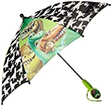 Disney Little Boys The Good Dinosaur 21 Inch 8 Section Polyester Color Changing Streight Umbrella with Character Shaped clamshell Handle, Multi, One Size