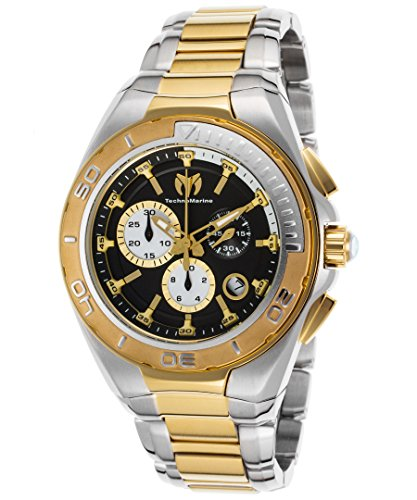 technomarine-mens-tm-215038-steel-manta-quartz-black-dial-watch
