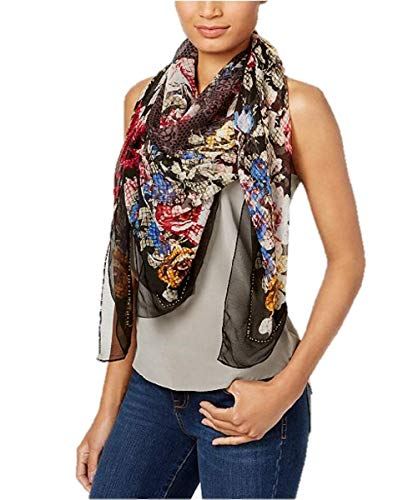 - INC International Concepts I.N.C. Oversized Beaded Floral Scarf